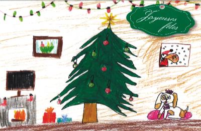 Création de notre carte de Noël